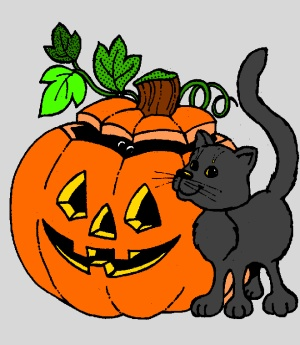 Halloween cat free coloring page