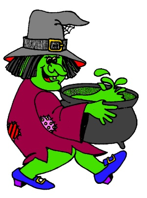 free witch coloring page