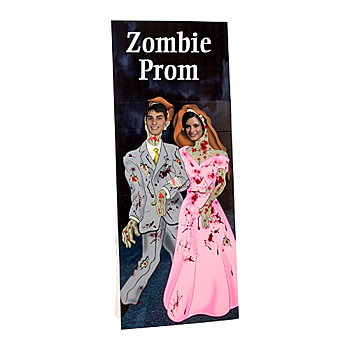 zombie prom Halloween photo stand