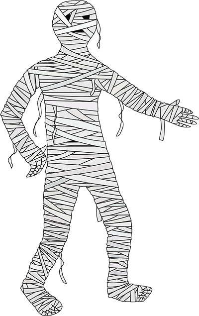 a halloween mummy