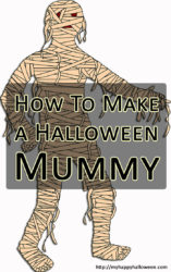 how to make a halloween mummy