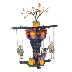 Department 56 Halloween Village swinging ghoulies