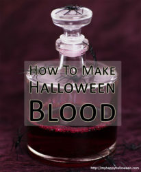how to make halloween blood at home