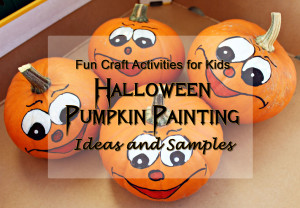 fun craft activities halloween pumpkin painting
