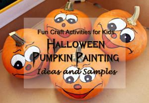 fun craft activities halloween pumpkin painting