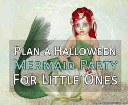 a halloween mermaid party for little ones