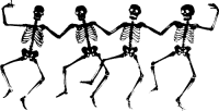 make halloween window skeletons