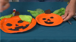 how to make pumpkin paper plate