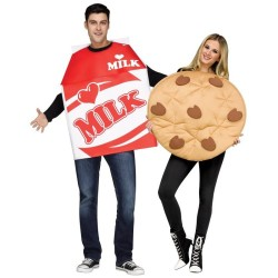 funny halloween costumes for couples - adult cookies and milk costume