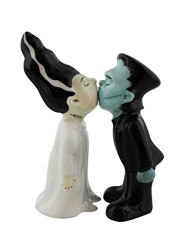 halloween salt and pepper sets - zombie monster and bride salt and pepper shakers