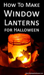how to make halloween window lanterns