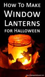 how to make halloween window lanterns