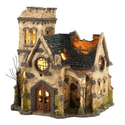 Dept56 Halloween Haunted Church Lit Collectible