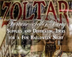 fortune-teller party supplies and decorations